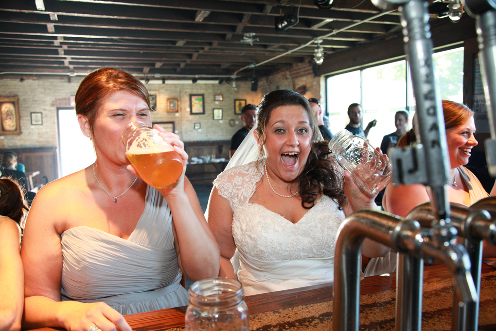 Bride at Keegan Ales in Kingston, NY