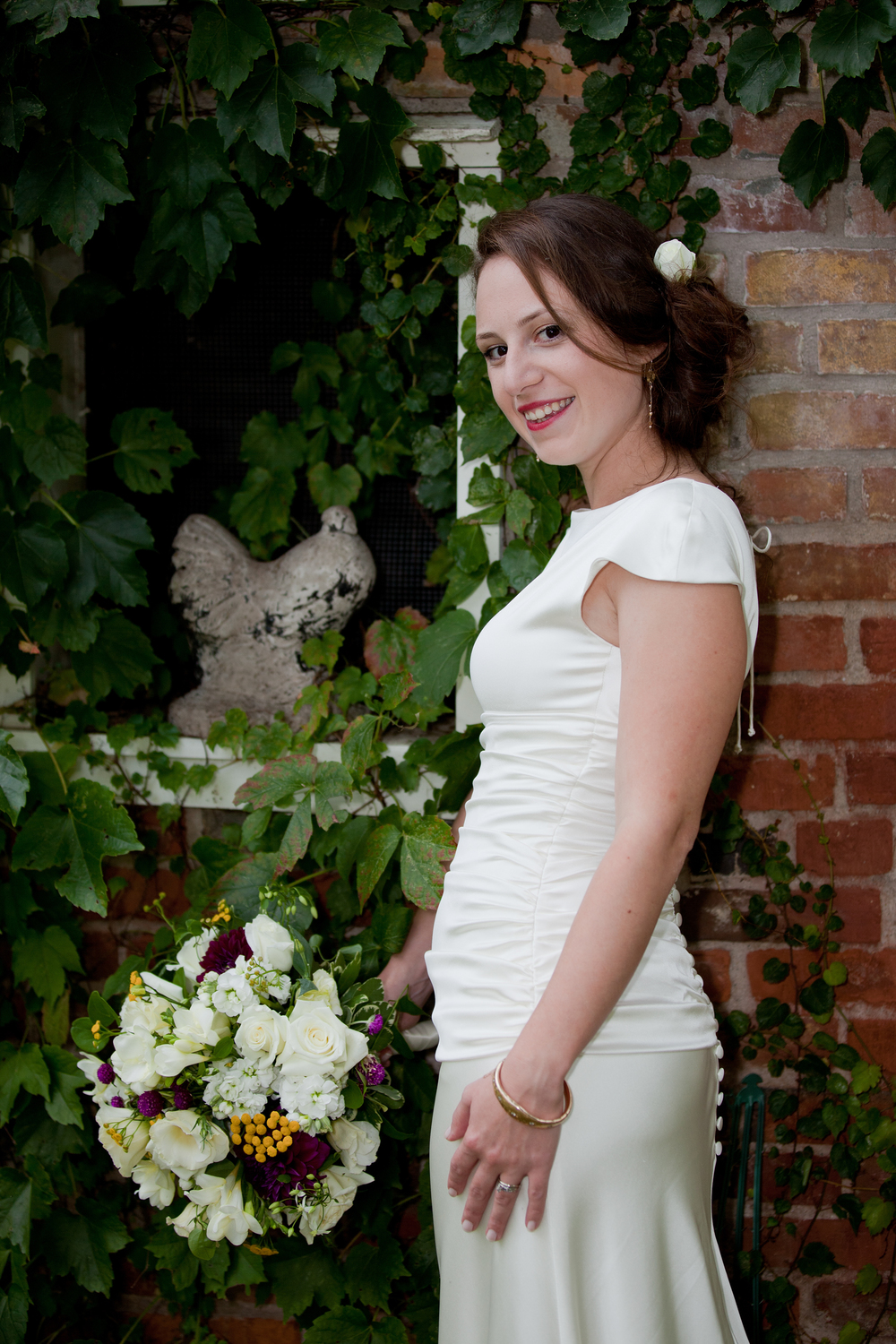 Lovely bride photographed by Aperture Photography