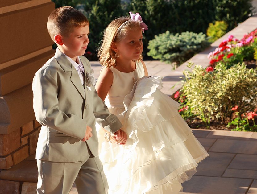 Children at a Kingston, NY Wedding