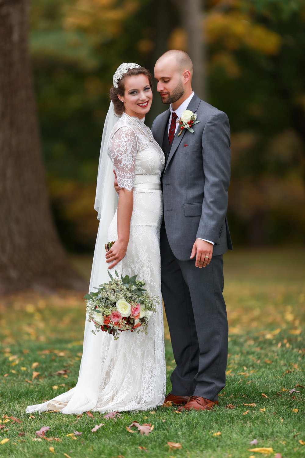 Wedding Portrait in Hudson, NY