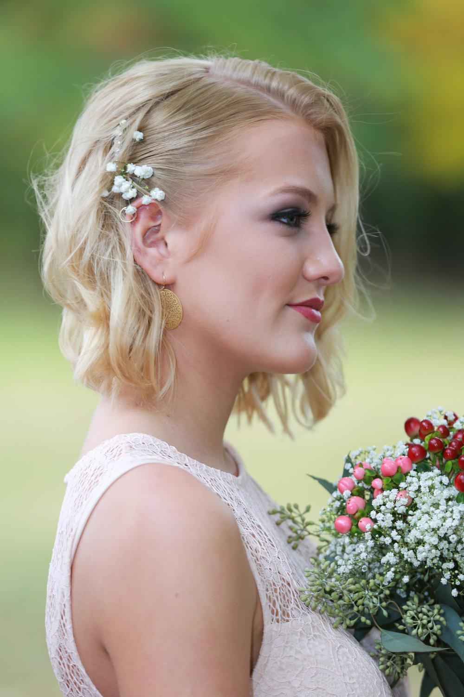 Wedding photo of a brides maid