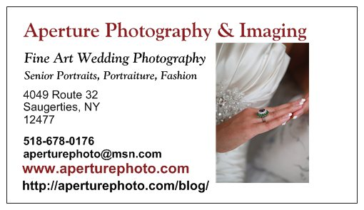 Aperture Photography's new Business Card