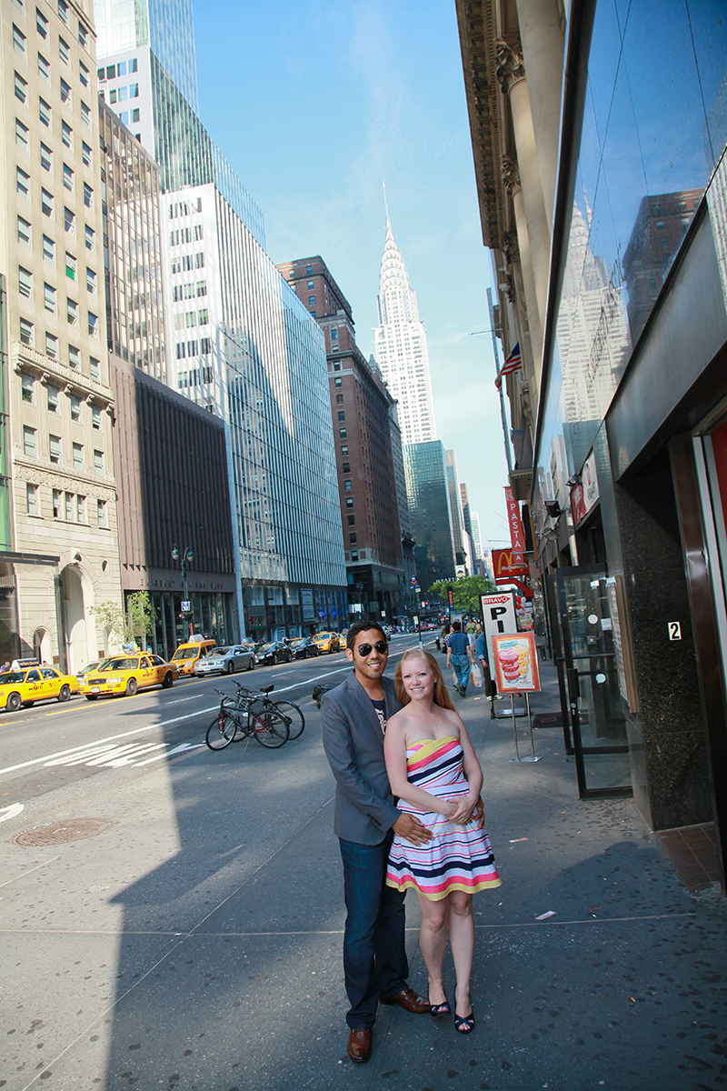 In this Engagement shot the Empire State building was critical to see so I set the camera to show both.
