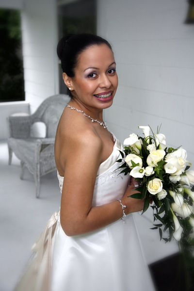 A Beautiful Bride photographed for pleasing skin tones