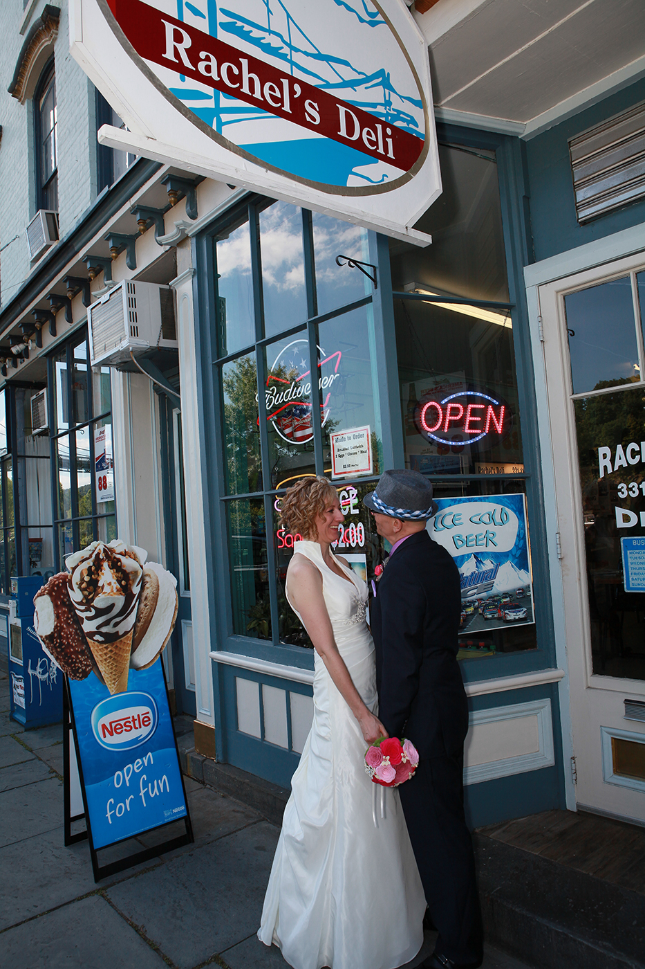 Wedding Photo on the streets of Kingston, NY