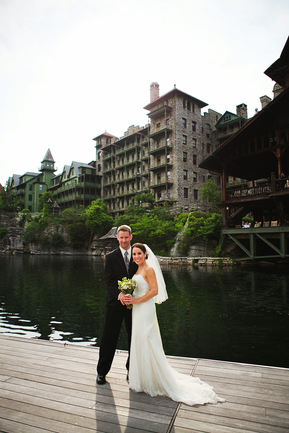 Wedding photo at he Mohonk Mountain House