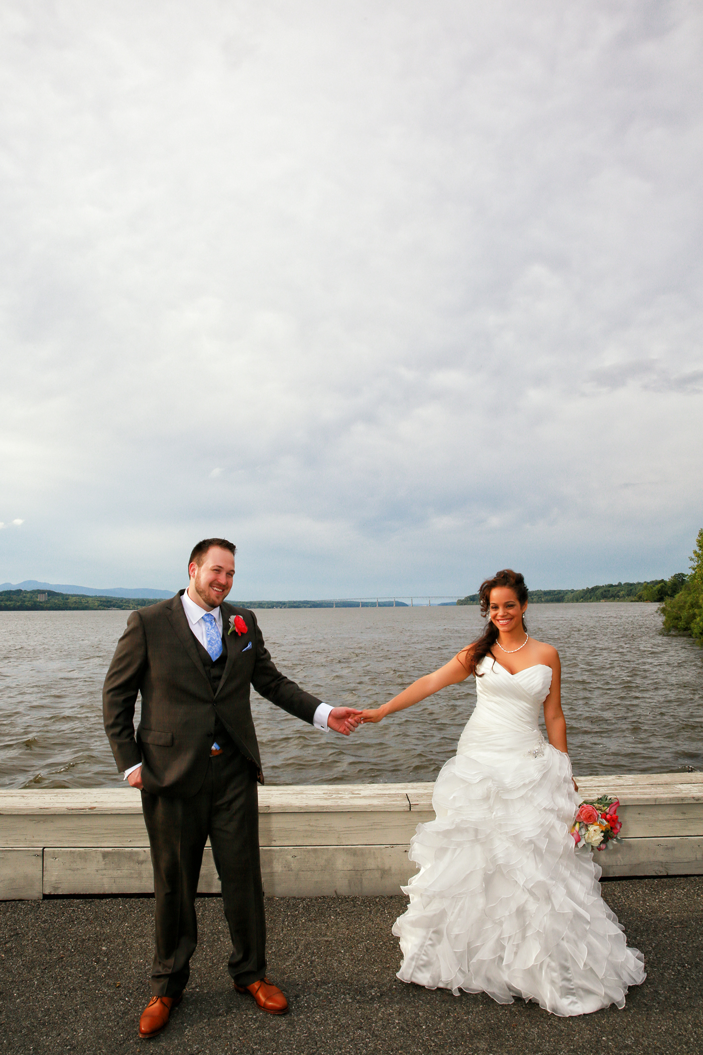 Bride and Groom at the Rhinebeck.  Aperture Photography Wedding Photographer