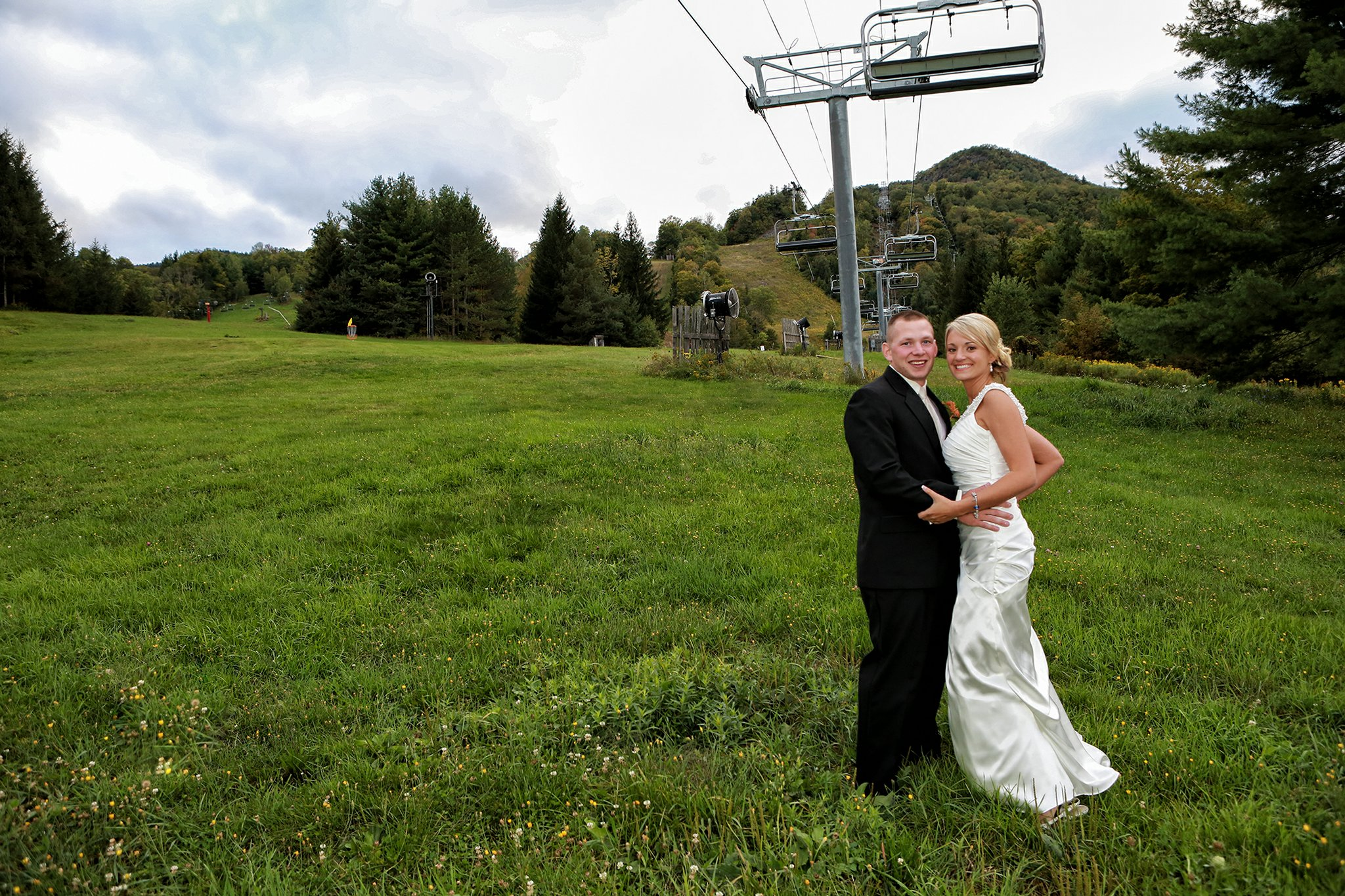 Wedding photo at Windham Mountain in the Catskills