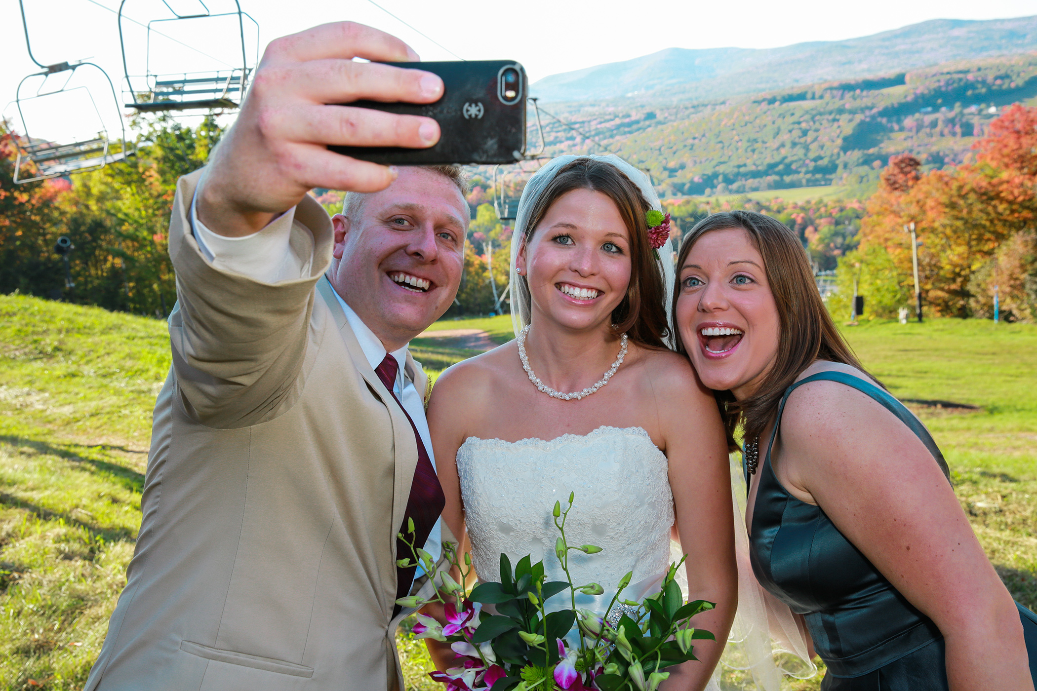 Wedding  Photos on Windham Mountain NY