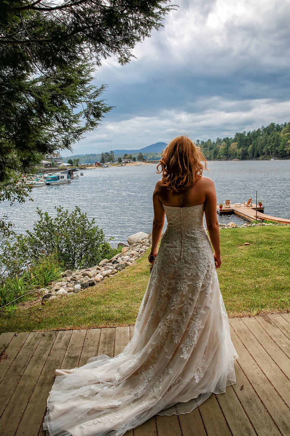 Bride in a mountain resort