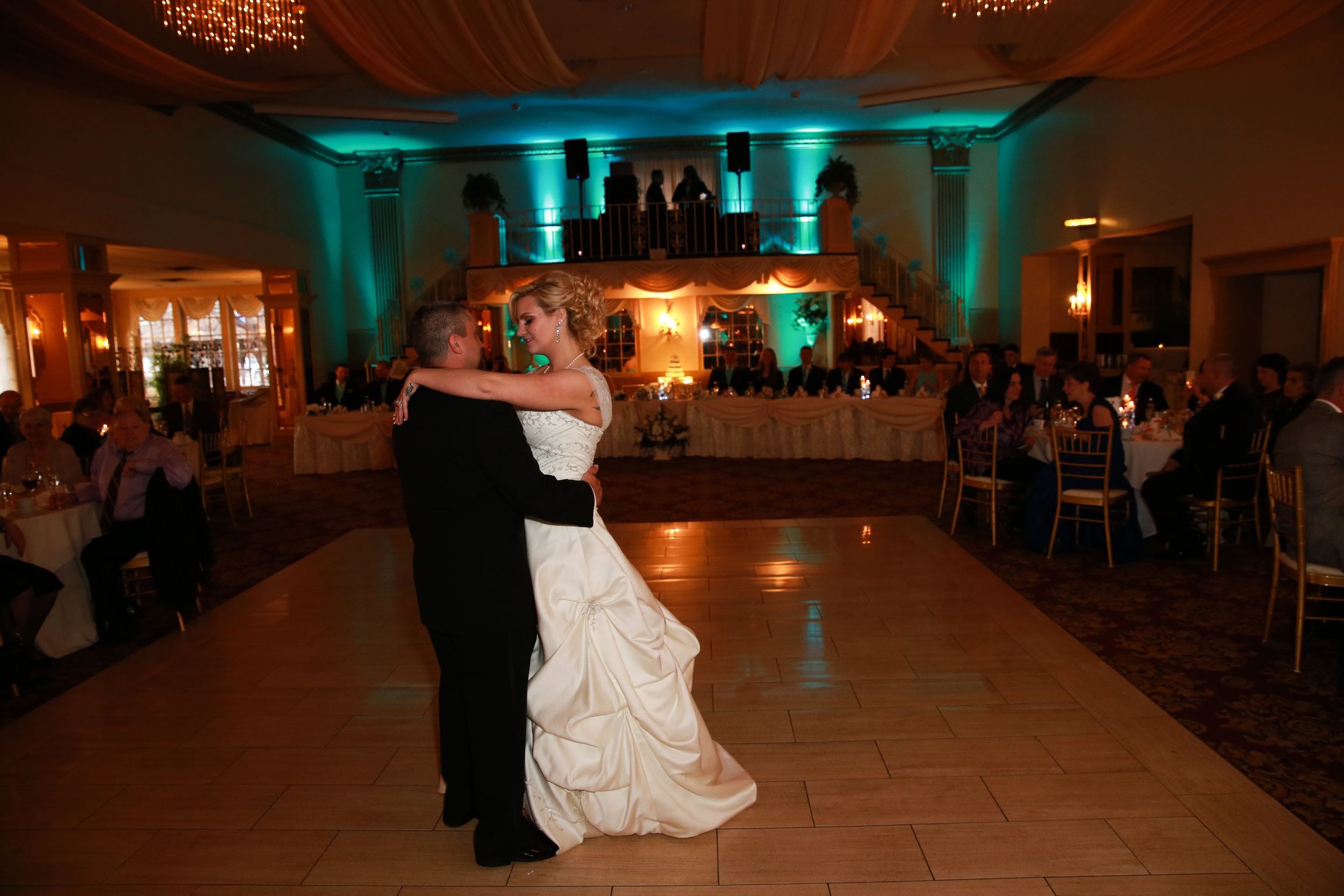 First Dance at a Formal Wedding Venue