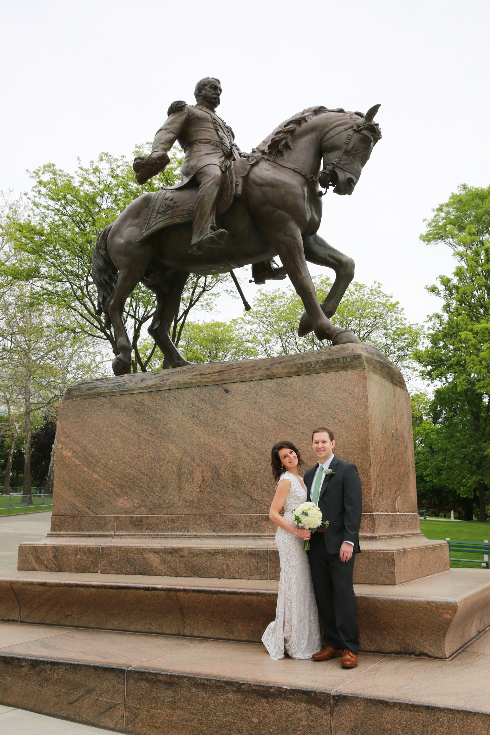 Wedding Portrait of bride and groom in Albany, NY by Aperture Photography