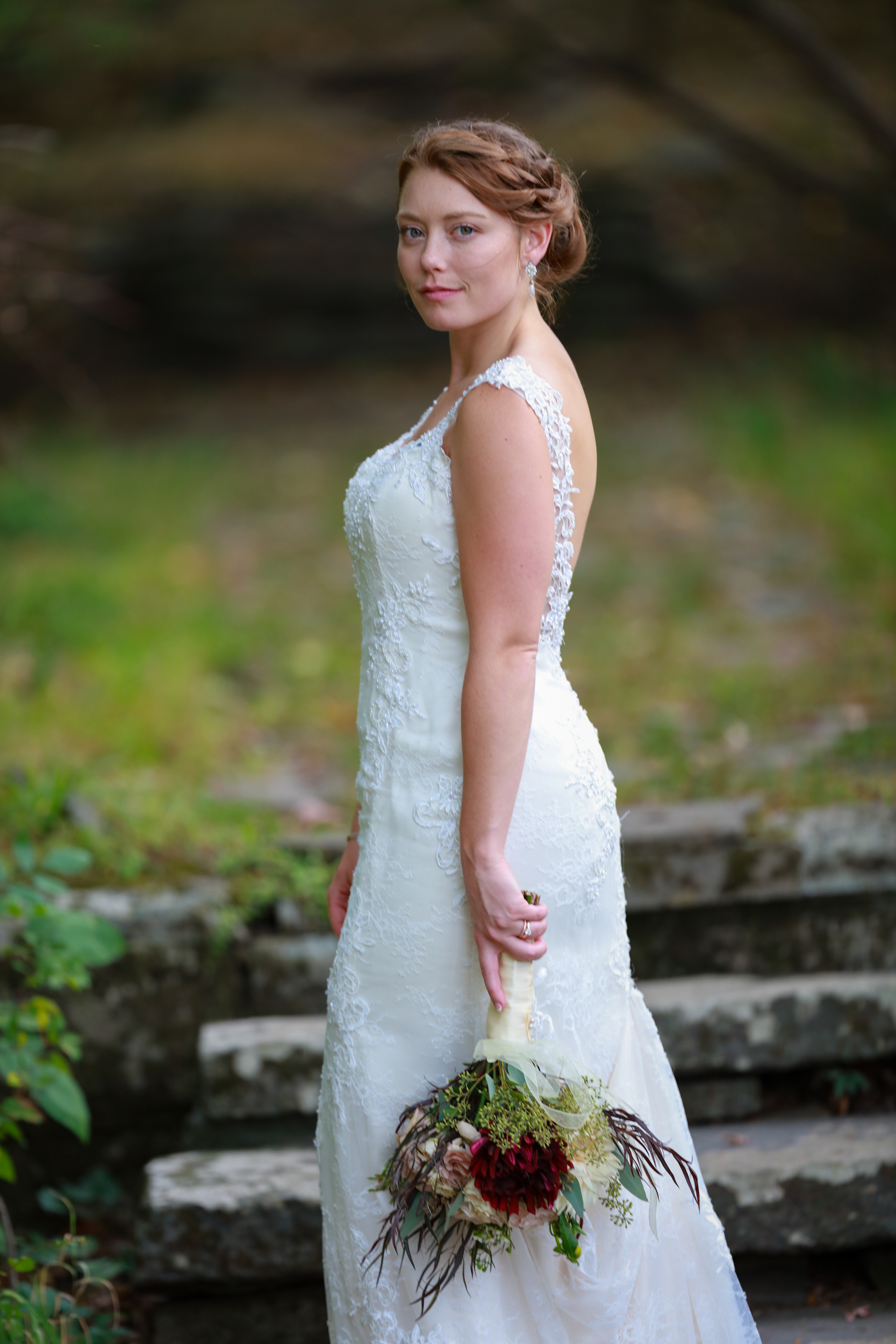 A Saugerties, NY Bride at her Wedding in Saugerties, NY