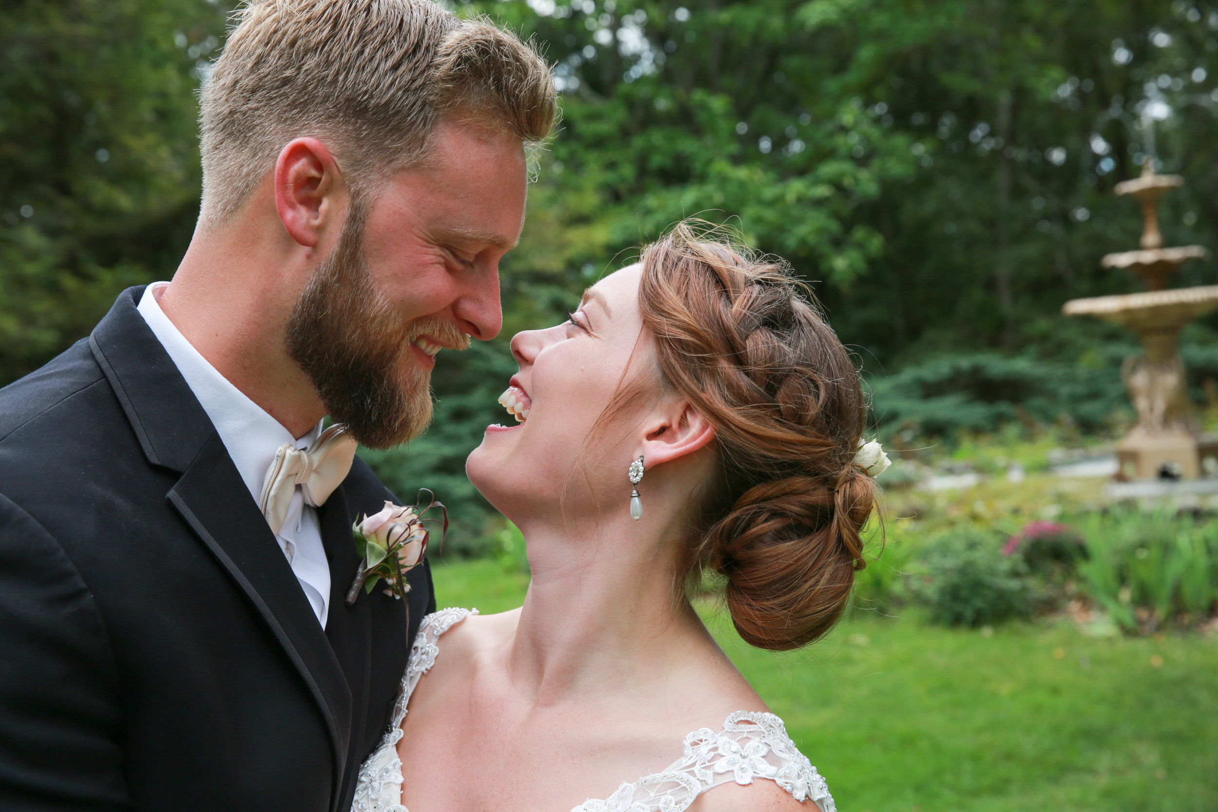 Photographs of a Bride and Groom in Saugerties. Taken by Aperture Photograhy