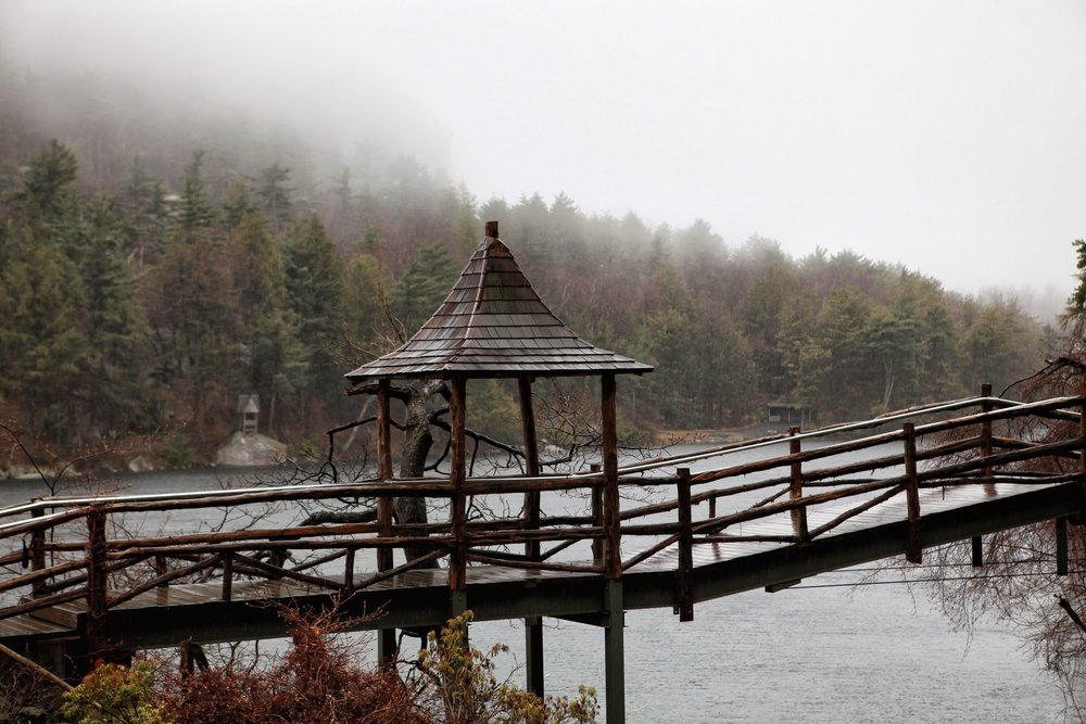 Mohonk Mountain Wedding Photo of the grounds in Winter