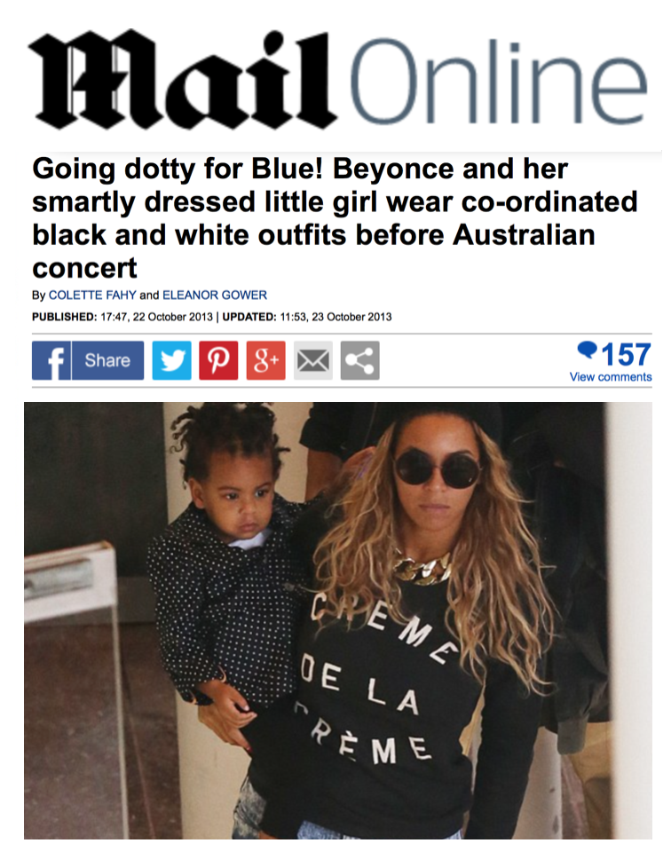 Daily Mail Beyoncé
