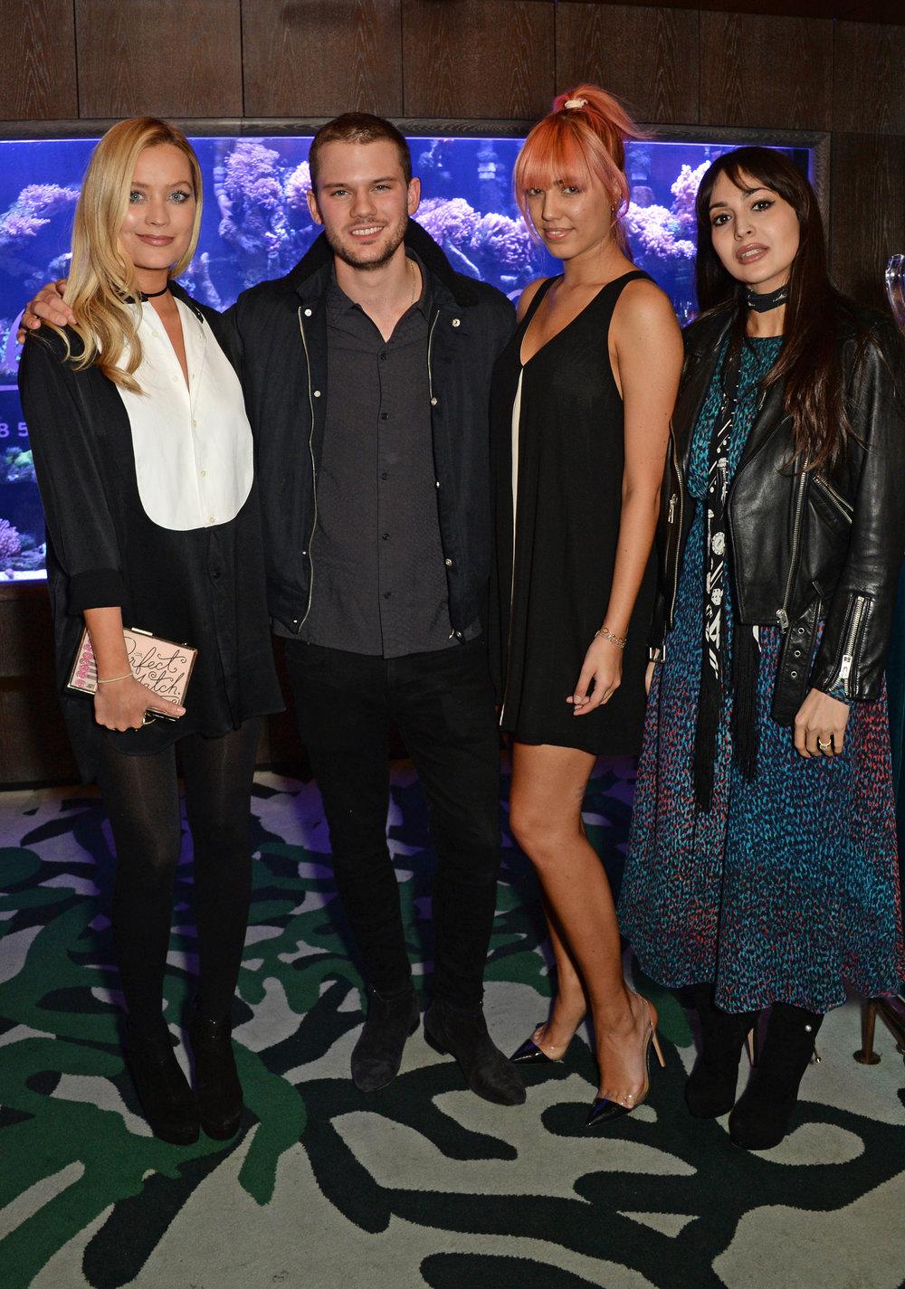 Laura Whitemore, Jeremy Irvine, Amber Le Bon & Zara Martin