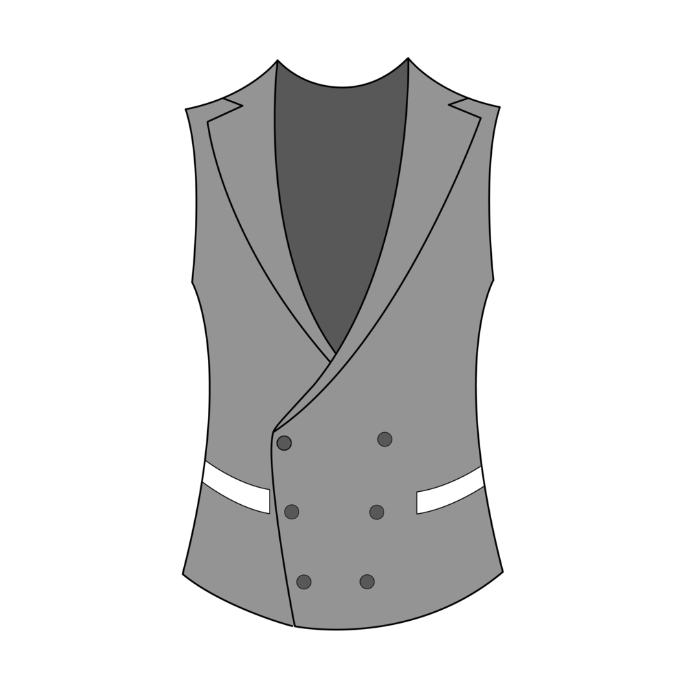 Double-Breasted Two Pockets