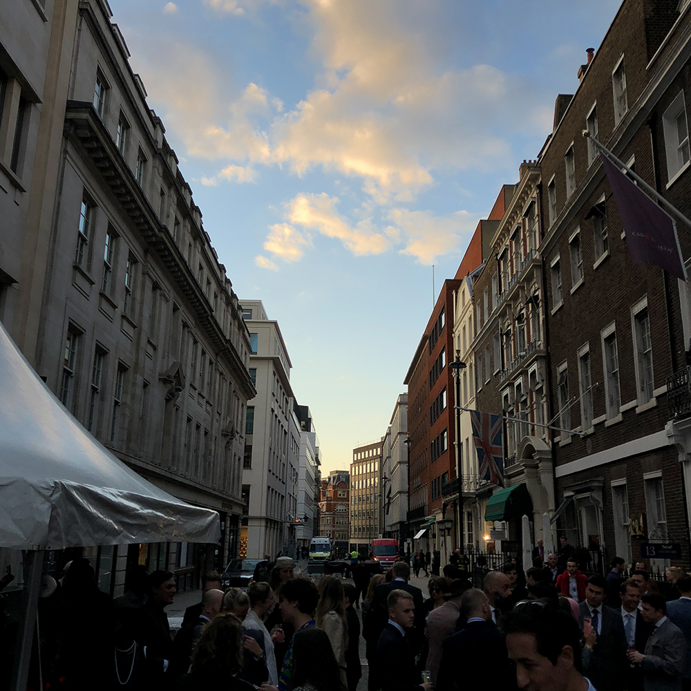 The sky over Savile Row