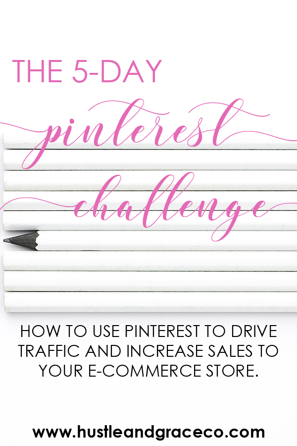 Are you ready to use Pinterest to drive traffic AND sales to your e-commerce store? My 5-day Pinterest Challenge is designed with you in mind and I'm dishing out my step-by-step process for how I used Pinterest to build my own six-figure creative business.