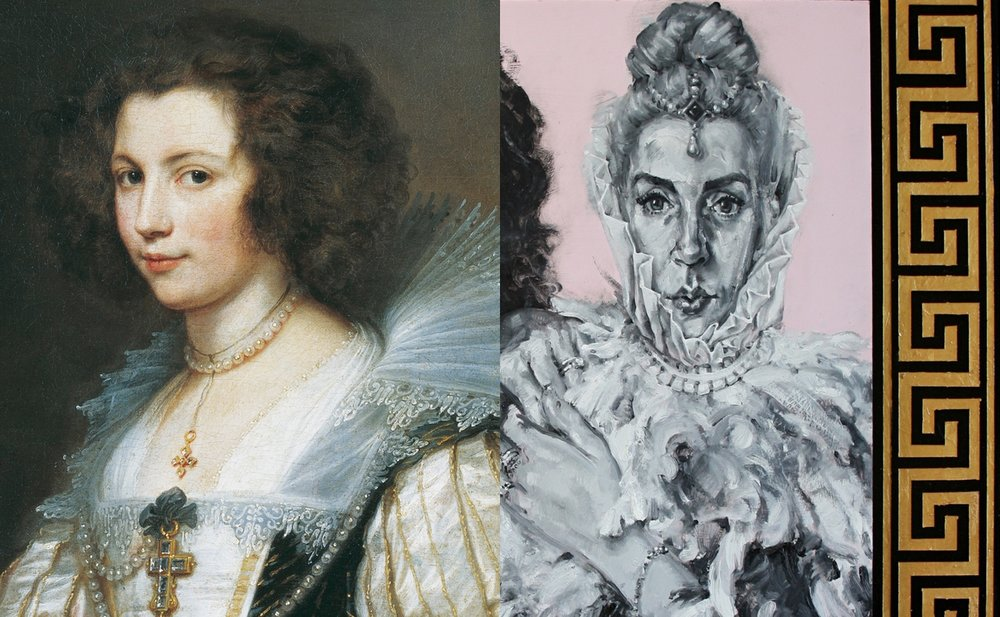 Marie Louise de Tassis by Van Dyck (1629) and Gemma Rolls-Bentley Wilde