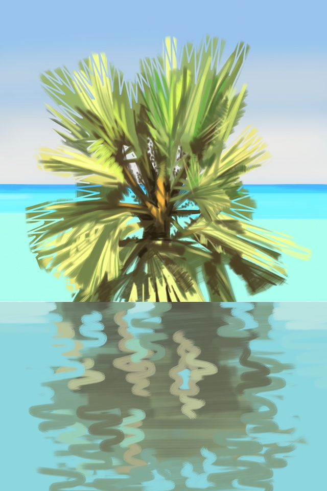 Pool, Palm, Sea