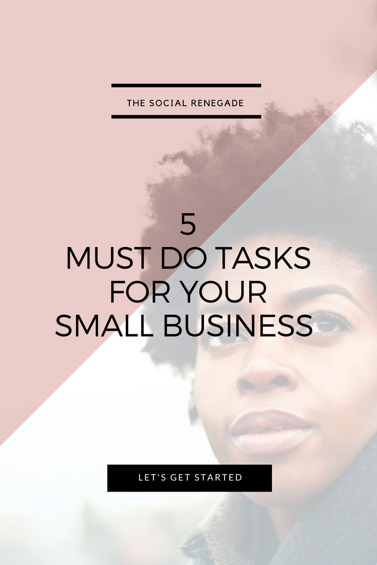 5 Tasks You Must Do For Your Small Business