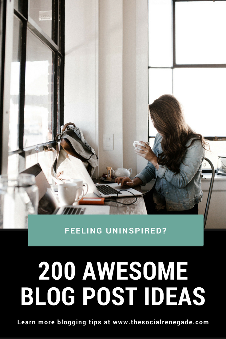 If you're a blogger and are feeling uninspired, this post is for you. Maybe you have a full-time job or the kids don't give you much time to brainstorm. Whatever the reason,  I'm sure you know how hard it is to come up with blog post ideas.  I've created 200 awesome topics to get you going.