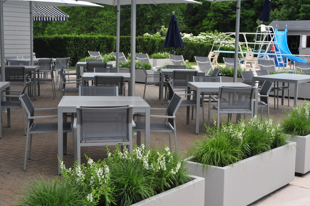Planters at Swim and Tennis Club Robin Kramer Garden Design Blog http://www.robinkramergardendesign.com/rkgd-blog/