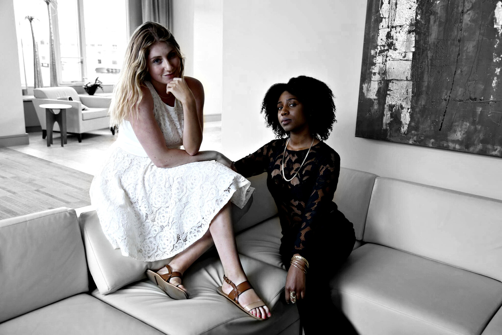 Alexa Curtis  (left) and Malaysha (right). Alexa is not wearing Tangoella, but we thought her white lace dress next to the  black lace top  made for a romantic contrast.