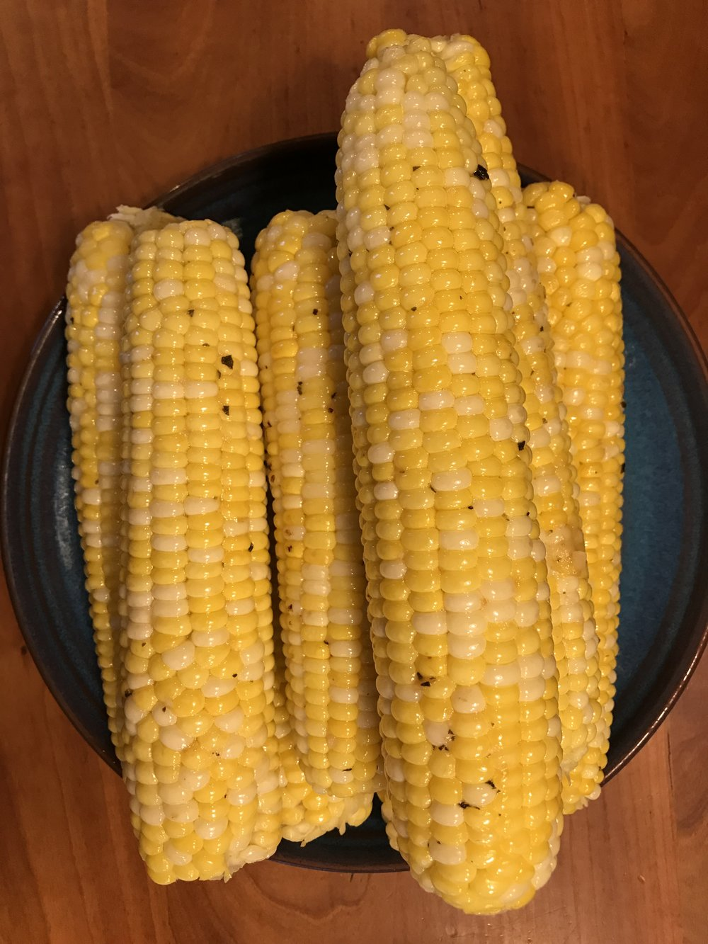 Simon and Garfunkel butter on fresh corn