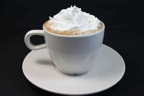 Whipped cream on hot chocolate