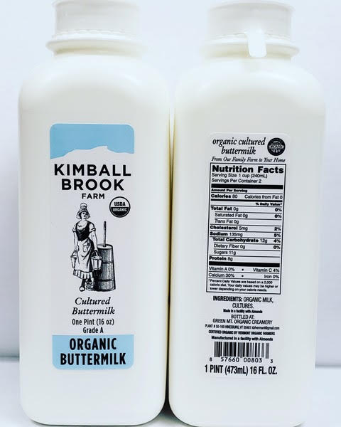 Our amazing cultured no fat buttermilk
