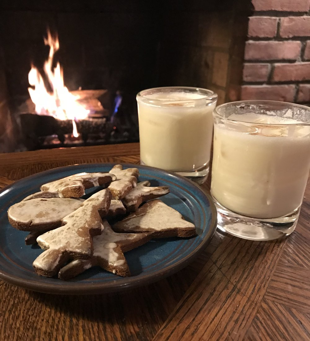 Eggnog by the fire