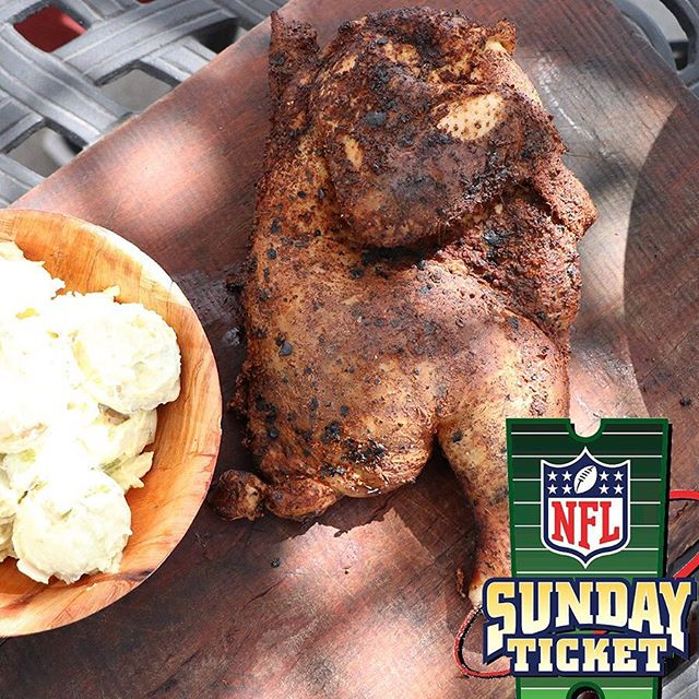 The #NFL is on at NP! Stop in and catch your favorite game and a delicious smoked half chicken #Food #Football #Beer #BBQ