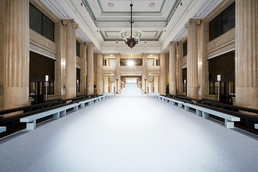 Banking Hall fashion show venue