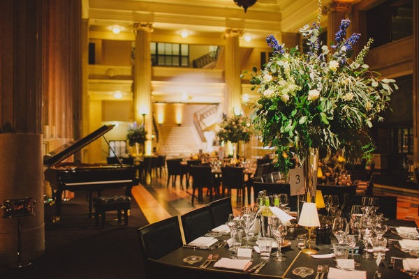 banking hall dinner and piano