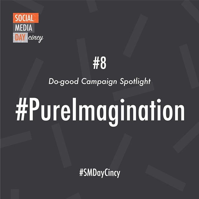 Our last do-good campaign is the #PureImagination Project. Bringing widespread attention to the effects of this devastating disease, the need for imagination in finding a cure, and awareness of the Alzheimer's Association's efforts to imagine a world without Alzheimer's...(link in bio)#SMDayCincy #DoGoodCampaign