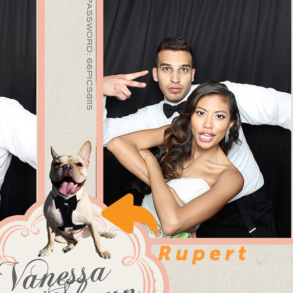 VANESSA    I saw John and Stacie at a friend's wedding and met them again at a bridal show and they're a wonderful couple! I love how unique their prints are and they have awesome props! They were willing to let us use our pup Rupert for our design so he could be apart of our day :) I love the scrapbook/ guestbook they provide. Since the day is soooo busy, it was so fun to look back at all the pictures. Do I recommend them? 100% Yes, yes, YES!