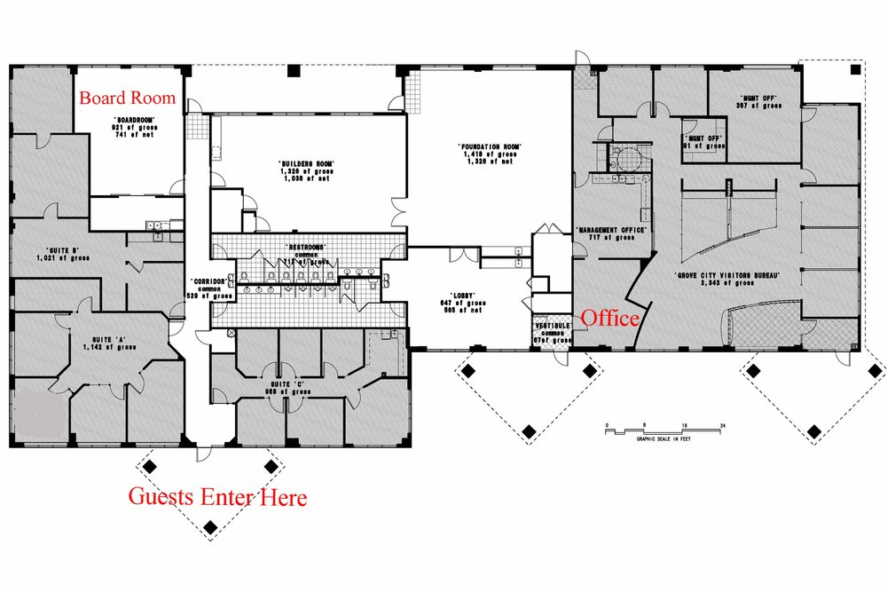 Cornerstone Meeting & Event Center floor plan