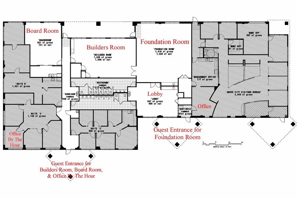 Cornerstone Meeting & Event Center floor plan