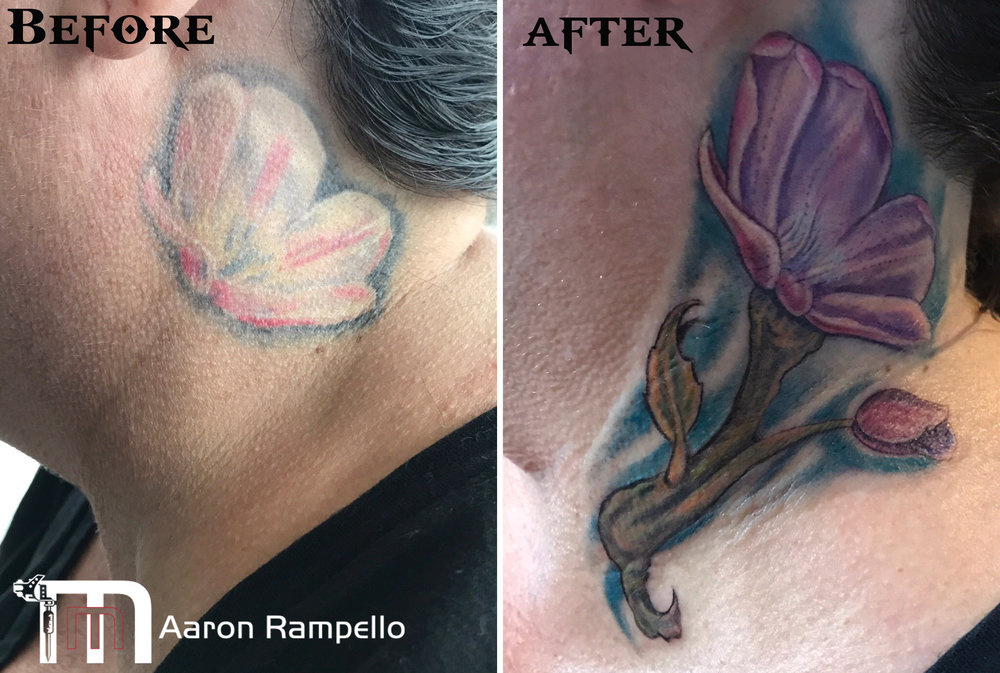 Masters method tattoo before and after flower.jpg