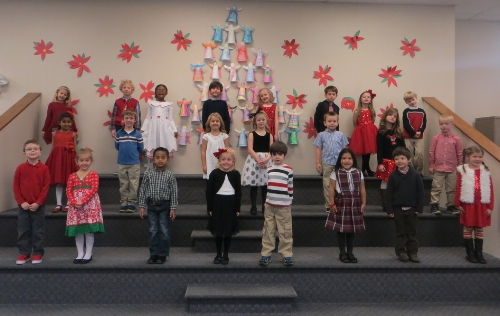 What a marvelous program we had today!  The children were AMAZING!  I could not have been prouder of them! Merry Christmas!
