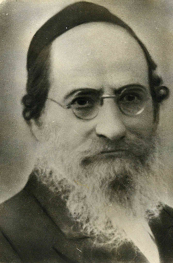 "Rav Ashlag (a""h) as a young man."