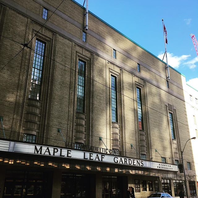 The old Maple Leaf Gardens. #ghosts #hockey #icehockey #thehockeyaddict #roadtrip