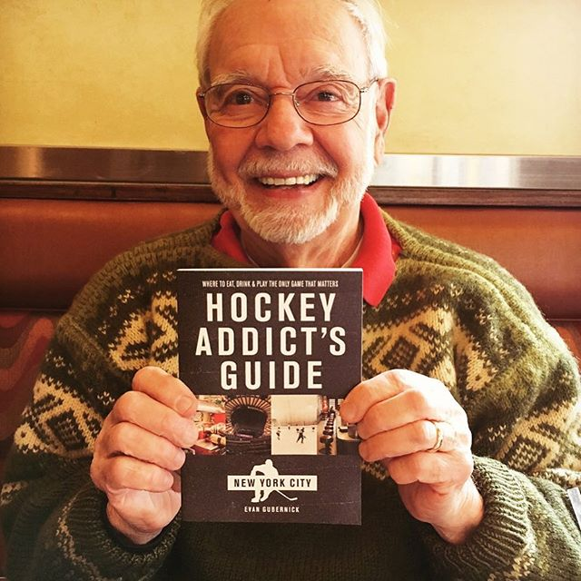Thanks to Stan Fischler, who contributed to our first edition, blessing us with instant cred. #themaven #hockey #icehockey #print #nyc #nyislanders #njdevils #nyrangers  @hockeyaddictguides