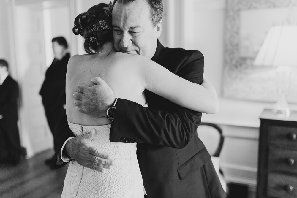 Father of the Bride Moment - North Carolina Plantation Wedding - Of Fate and Chaos Wedding Photography