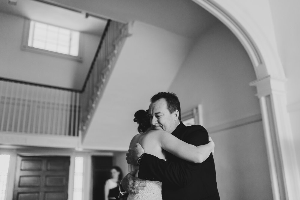 Emotional Father Daughter Moment - North Carolina Plantation Wedding - Of Fate and Chaos Durham Wedding Photographer