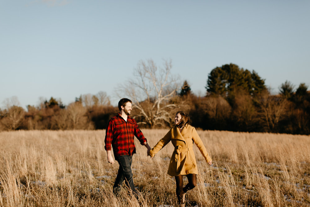Heritage Park Engagement Photos - Blacksburg Wedding Photographer