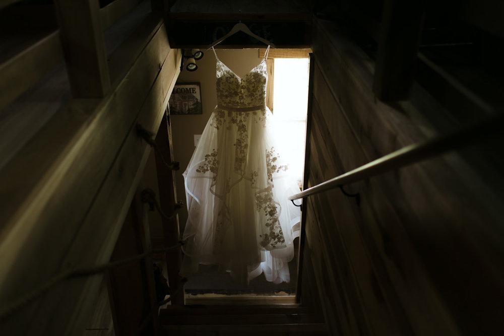 dress-hanging-lovewell-lodge-roanoke-va